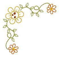 """Free Sample  Cute Corners-05  For the 4x4"""" hoop  Click on graphic to download"""