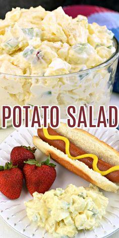 Best Potato Salad Recipe, Creamy Potato Salad, Easy Salad Recipes, Easy Dinner Recipes, Vegetarian Recipes, Cooking Recipes, Simple Potato Salad, Best Ever Potato Salad, Cooking Tips