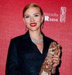 Scarlett Johansson reçoit un César d'Honneur en 2014