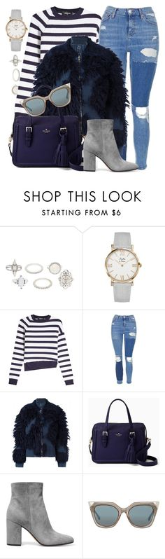 """Patience"" by monmondefou ❤ liked on Polyvore featuring Charlotte Russe, Dsquared2, Topshop, 3.1 Phillip Lim, Kate Spade, Gianvito Rossi, Fendi, Blue, stripes and gray"