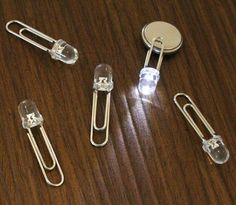 LED Clip by sungho lee: Illuminate by clipping onto batteries. #LED_Clip #sungho_lee:
