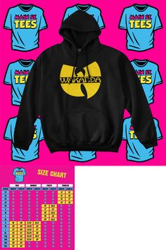 1de7e91ea9f8 Sweatshirts and Hoodies 155200  Black Panther Wakanda Wu Tang Style Hoodie  Marvel Avengers Adult And Youth -  BUY IT NOW ONLY   32.98 on eBay!