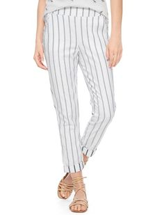 Splendid Official Store, Atlas Striped Pant, white, Womens : Bottoms : Pants, SB765