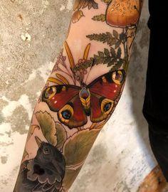 Butterfly tattoo by Magda Hanke ( from Hamburg Neue Tattoos, Body Art Tattoos, Small Tattoos, Sleeve Tattoos, Tatoos, Tattoo Ink, Moth Tattoo, Pretty Tattoos, Beautiful Tattoos