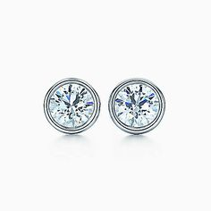 Elsa Peretti® Diamonds by the Yard® earrings in platinum.