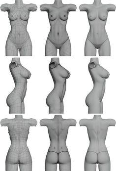 Картинки по запросу sculpting cartoon female body