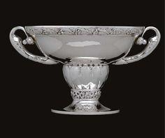 Georg Jensen (Danish 1866-1935), Georg Jensen Silversmithy, Centerpiece, Silver.