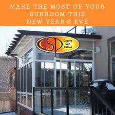 Here are some top tips to help you make the most of your sunroom this New Year's Eve: New Years Eve Deserts, Four Season Sunroom, Sunroom Addition, Desert Sun, Sunrooms, Calgary, How To Make, Top, Courtyards