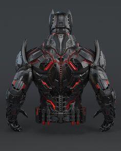 Batman Concept, Robot Concept Art, Armor Concept, Batman Suit, Batman And Superman, Overwatch Hero Concepts, Tactical Suit, Batman Wonder Woman, Batman Tattoo