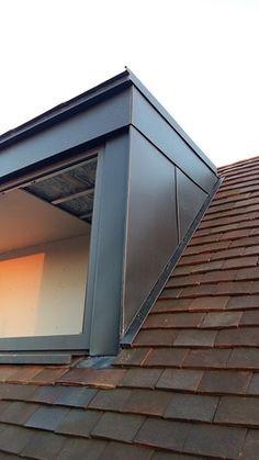 Zinc – Boyle Copper & Zinc Craft Ltd Loft Conversion Victorian Terrace, Loft Conversion Stairs, House Extension Plans, House Extension Design, House With Balcony, House Roof, Roof Design, House Design, Loft Dormer