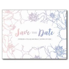 ELEGANT FLORAL SAVE THE DATE SERENITY ROSE QUARTZ POSTCARD #WEDDINGTRENDS2016 #SAVETHEDATE #POSTCARD #FLORALWEDDING #ELEGANTWEDDING #PINKBLUEWEDDING #SCRIPT #PRETTY