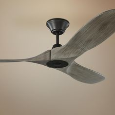 Light gray oak blades are hand-carved from balsa wood to bring artful, rustic flair to this contemporary aged pewter ceiling fan. Style # at Lamps Plus. Ceiling Fans Without Lights, Best Ceiling Fans, Outdoor Ceiling Fans, Led Ceiling, Gray Ceiling Fan, Contemporary Ceiling Fans, Slanted Ceiling, Fan Lamp, Canopy Lights