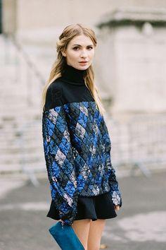 Vanessa Jackman: Paris Fashion Week SS 2013...Maria chunky sweater + flippy skirt