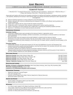 Elementary Teacher Resume Sample First Grade Teacher Resume Sample ...