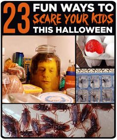 23 Fun Ways To Scare Your Kids This Halloween. I'm gonna have so much fun with this when I have kiddos!