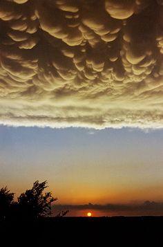 Mammatus Clouds, Takamah, Nebraska by Jack