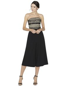 Alice + Olivia | Black Emberly Beaded Gaucho Jumpsuit | Lyst Dress Lyst...