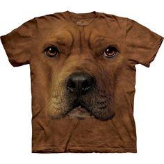Pitbull face t-shirt