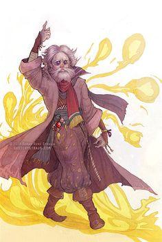 """Tellah, The Great Sage"" Final Fantasy IV tribute illustration by Sarah René Straub (http://www.sketchystraub.com)"