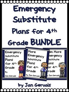 Do you need sub plans? This bundle of Emergency Substitute Plans for 4th Grade is ready to print and has everything you need for 3 days. You may also buy the sub plans individually, but this set saves you money.  <strong>The bundle price saves you 25% off of the regular cost of the products!</strong>    Be prepared ahead of time for those unexpected absences. This comprehensive product should be all you need for three days of instruction and includes CCSS Aligned practice. As I would for my own Idioms Activities, Sorting Activities, Grade 1, First Grade, Short E Words, Sign Language Words, Similes And Metaphors, Problem Solving Activities, Text Dependent Questions