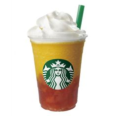 Mango-Jelly Frappuccino. What it is: This fruity Frappuccino combines mango, peach, strawberry, and orange flavors into a frozen drink that's studded with peach jellies. All that's missing is a tiny umbrella. And a beach you can escape to, of course.  Where to find it: Japan