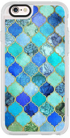 Casetify iPhone 6s New Standard Case - Blue Moroccan love case by Priyanka Chanda #Casetify