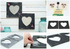 Chalkboard Heart Frames.....DIY Gift Ideas #diy #gift #valentine #holiday #celebration #romantic #handmade