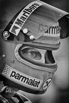 """Tenacity"" © Richard Kelley – Niki Lauda in Watkins Glen, 1978 – Motorsport & F… F1 Racing, Drag Racing, Racing Helmets, Racing Wheel, F1 Wallpaper Hd, Grand Prix, Classic Trucks, Classic Cars, Ferrari"