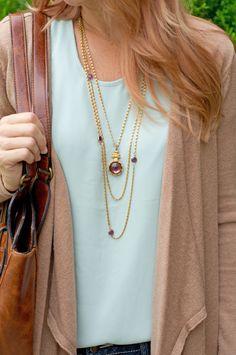 Triple Chain Long Necklace - CS Gems