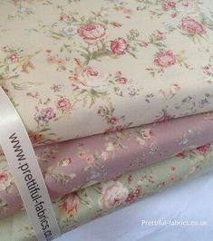 Patchwork Squares - x 10 square. We don't claim to be perfect. Vintage Floral Fabric, Shabby Chic Fabric, Vintage Roses, Vintage Fabrics, Fabric Crafts, Sewing Crafts, Diy Crafts, Patchwork Quilt Patterns, Fabric Roses