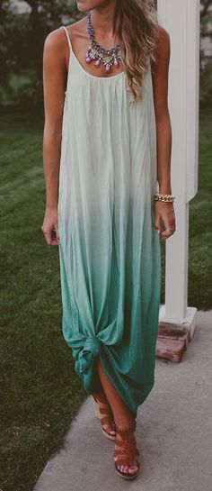 Mint Ombre Tank Dress
