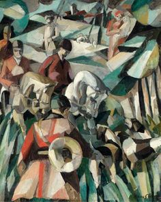 Albert Gleizes, La Chasse, 1911, oil on canvas, 123.2 x 99 cm - Horses in art - Wikipedia, the free encyclopedia