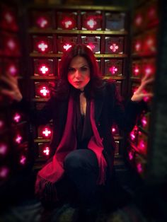 Lana Parrilla.  Ouat behind the scenes