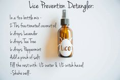 Lice Prevention Spray...wilsonoilyfam.com Young Living Essential Oils