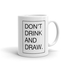 Don't Drink & Draw Architect Mug Whether you're drinking your morning coffee, your evening tea, or something in between – this mug's for you! It's sturdy and glossy with a vivid print that'll withstand the microwave and dishwasher. Architects Quotes, Best Architects, Gift For Architect, Architect Design, Company Gifts, Architecture Student, Bag Design, Student Gifts, Clean Design