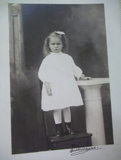 "So Cute!  Great old Postcard!  Measurements...3 1/2"" x 5 1/2""  Age...1904-1918  Photographer...Buckameyer  BACK... identifies her as Tracy May Griest. Etsy $4.75"