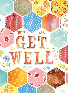 Get Well - Card by Katie Daisy