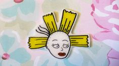 Rugrats Cynthia Doll Angelica pin Holographic glitter by LiaLane Cynthia Rugrats, Holographic Glitter, Pin And Patches, 90s Kids, Scribble, Gothic, Brooch, Dolls, Issa