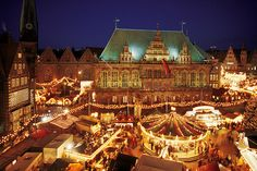 Christmas market, Bremen, Germany - I got to visit this in 1993.  Soooo amazing!