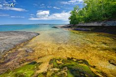 Tropical looking Lake Superior cove near Munising Michigan