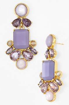 These lilac Kate Spade drop earrings will look perfect with an up-do hairstyle.
