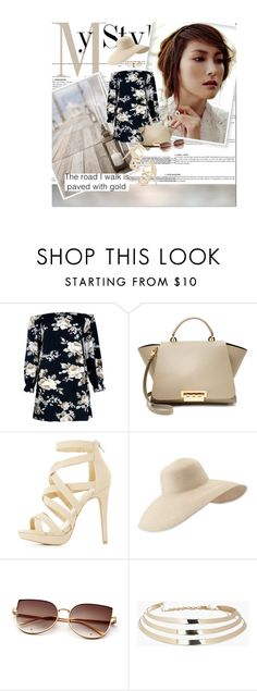 """""""winter break"""" by lifestyle-ala-grace ❤ liked on Polyvore featuring Boohoo, ZAC Zac Posen, Charlotte Russe and Eric Javits"""