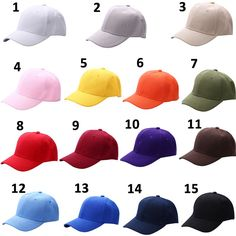 Men s Plain Solid Color Adjustable Baseball Hats Curved Visor Men s Fashion  Accessories Style Baseball Hats Outfit 01f211ad5bb7