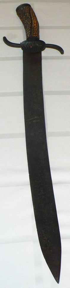 RARE EARLY 1800's GERMAN HUNTING CUTLASS HIRSCHFANGER SWORD KREMM