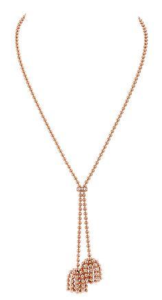 Cartier Paris Nouvelle Vague Sparkling necklace in pink gold, set with diamonds.