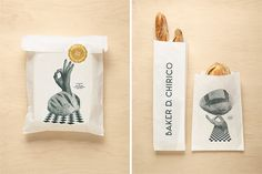 Love this identity package for Australian bread maker Baker D. Chirico by Fabio Ongarato Design. via @Seamless Creative