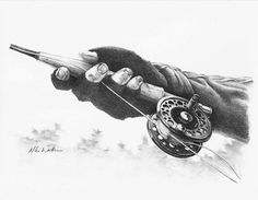 Fly Fishing Artwork First Cast by MikeWorthenFineArt on Etsy