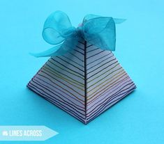 Stamped and Doodled Gift Boxes - Lines Across