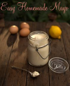 Homemade mayonnaise has a milder, more neutral flavor than the store-bought varieties, and can be customized to meet your tastes (I like garlic mayo). Mayonnaise is simply an emulsion of oil and egg yolks, with a little acidity and salt added to brighten the flavors.
