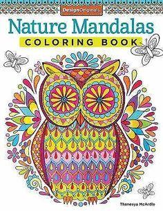 Nature Mandalas Adult Coloring Book Designs Stress Relief Doodle Creative Design